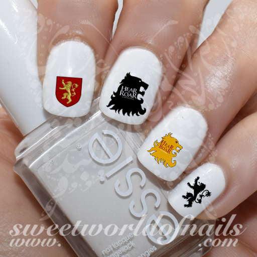 Game of Thrones Nail Art house Of lannister Nail Water Decals