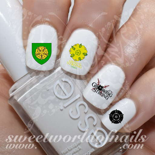 Game of Thrones Nail Art house of tyrell Art Water Decals