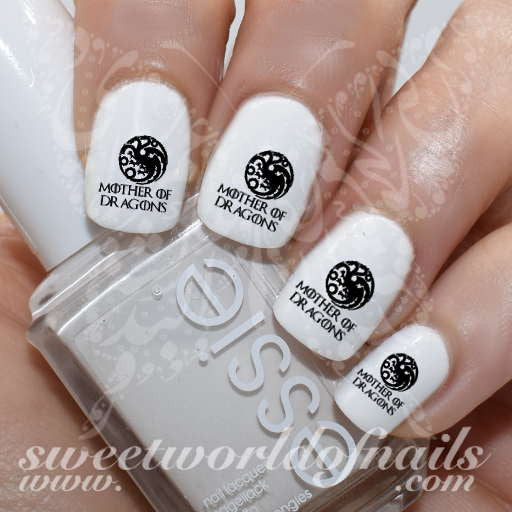 Game of Thrones Nail Art Mother of Dragons Nail Water Decals