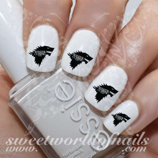 Game of Thrones Nail Art Winter is coming Nail Water Decals Transfers Wraps