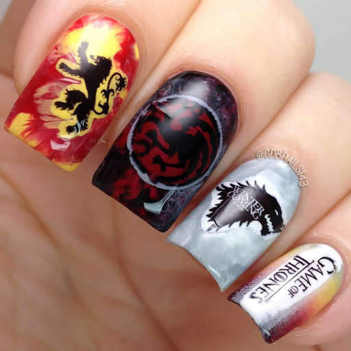 Chocolate Nails Art Game Online Nail Games: Game Of Thrones Nail Art Nail Water Decals Water Slides