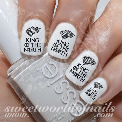 Game of Thrones Art Nail King of the North Water Decals
