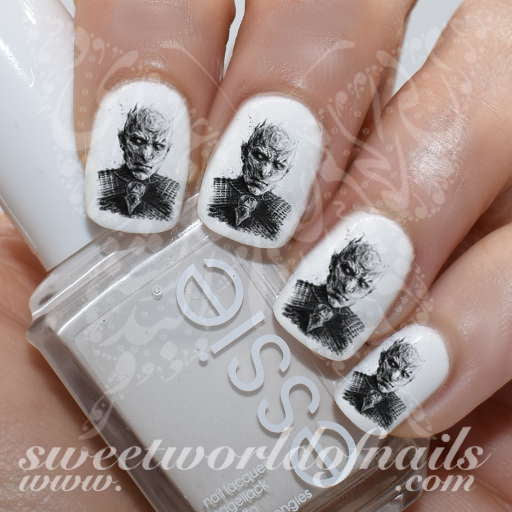 Game of Thrones Art Nail Night King Water Decals