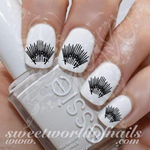 Game of Thrones Art Nail The Iron Throne Water Decals