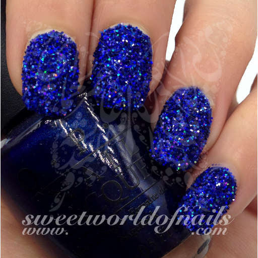 Nail Glitter Blue Sparkle Glitter Dust Powder Nail Art