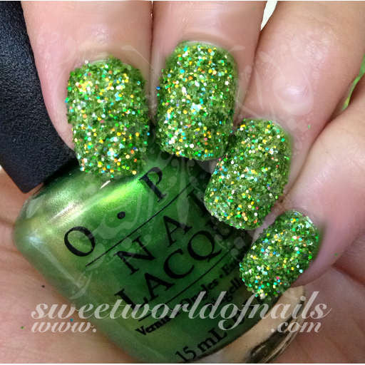Nail Glitter Light Green Sparkle Glitter Dust Powder Nail Art