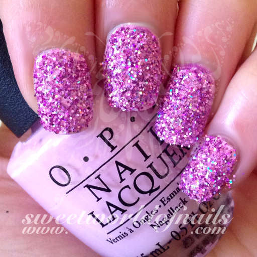 Nail Glitter Light Pink Sparkle Glitter Dust Powder Nail Art