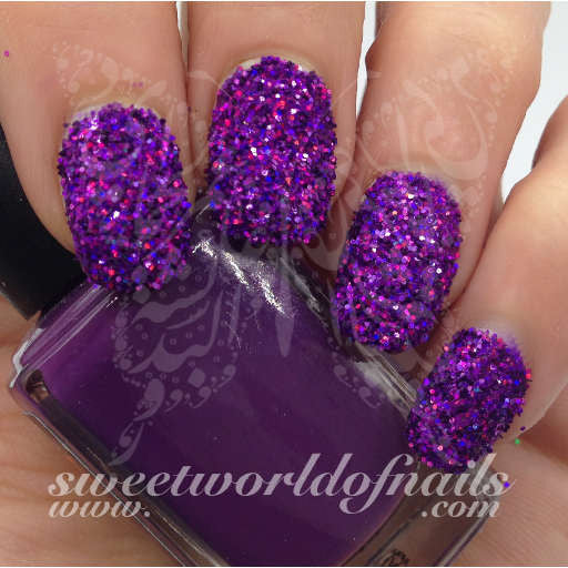 Nail Glitter Purple Sparkle Glitter Dust Powder Nail Art