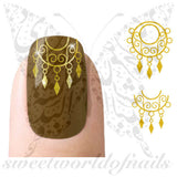 Gold Nail Art Nail Water Decals Water Slides