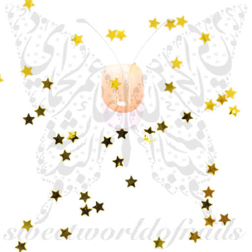 3d gold stars nail decoration for 3d nail decoration