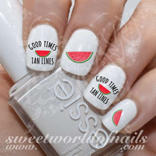 Good times tan lines summer Nail Water Decals Water Slides