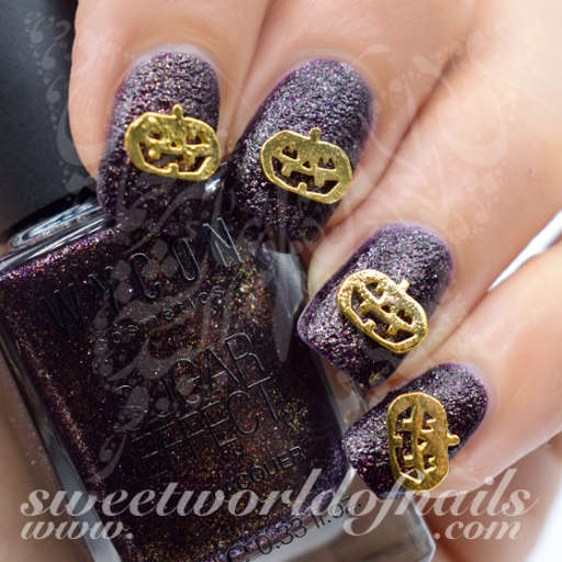 Halloween Nails 3D Gold Pumpkin Nail Charms