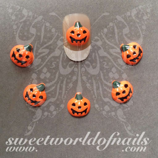 Halloween nail art 3d pumpkin nail art charms halloween nail art 3d pumpkin nail art decoration prinsesfo Choice Image