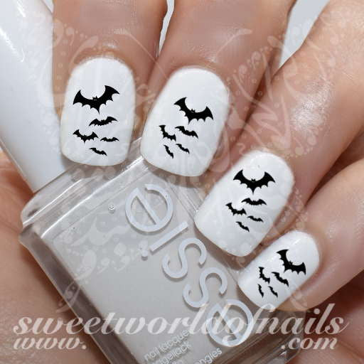 Halloween Nail Art Bats Nail Water Decals Water Slides