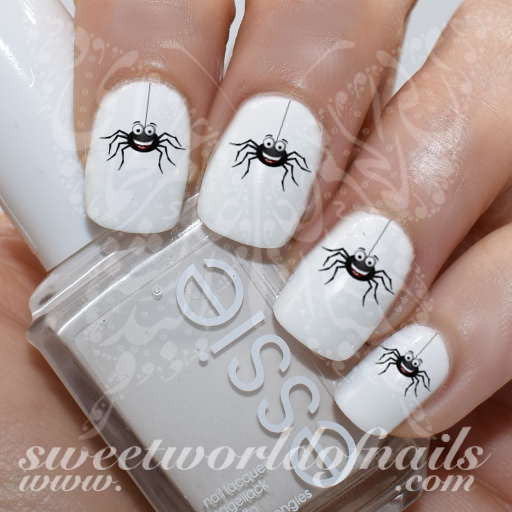 Halloween Nail Art Cute Spider Nail Art Water Decals Wraps