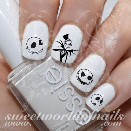 Nightmare Before Christmas Nail Art Jack Skellington Nail Water Decals Slides