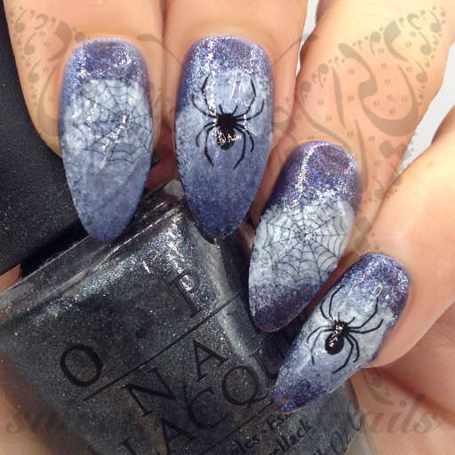 Halloween Nail Art Spider Web Nail Water Decals