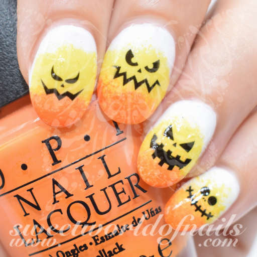 Halloween Nail Art Scary Faces Water Decals