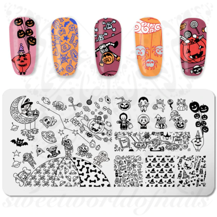 Halloween Stamping Plate Cute Monsters