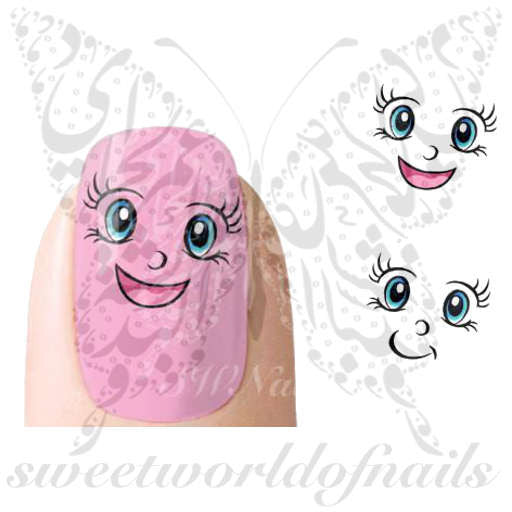 Happy Face Nail Art Nail Water Decals Water Slides