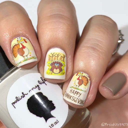 Happy Thanksgiving Nails Turkey Meal Nail Water Decals