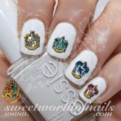 Harry Potter Nail Art Hogwarts Crests Nail Water Decals