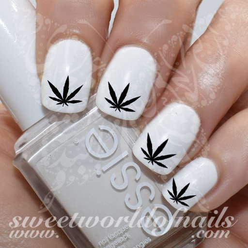 Hash Weed Leaf Nail Art Nail Water Decals Water Slides