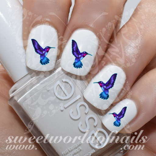 Hummingbird Nail Water Decals Transfers Wraps
