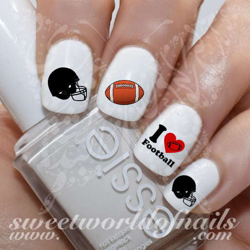 I love American Football Nail Art Water Decals Nail Transfers Wraps