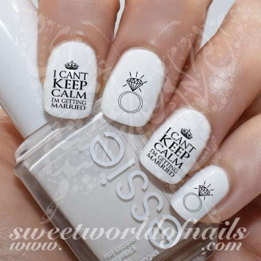 I cant keep calm Im getting married Nail Water Decals