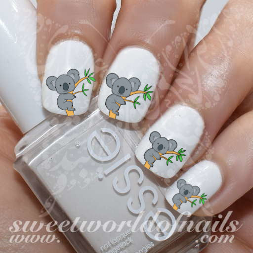 Koala Nail Art Nail Water Decals