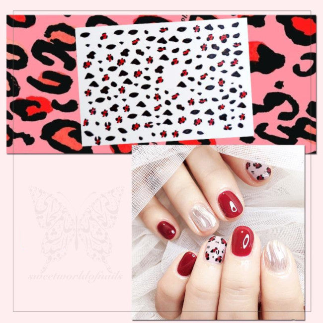 Leopard Print Nail Art Stickers