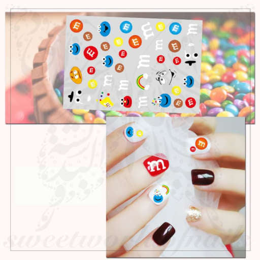M&M'S Nail Art Stickers