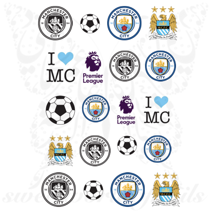 Manchester City F.C. Nail Art Premier League Nail Water Decals