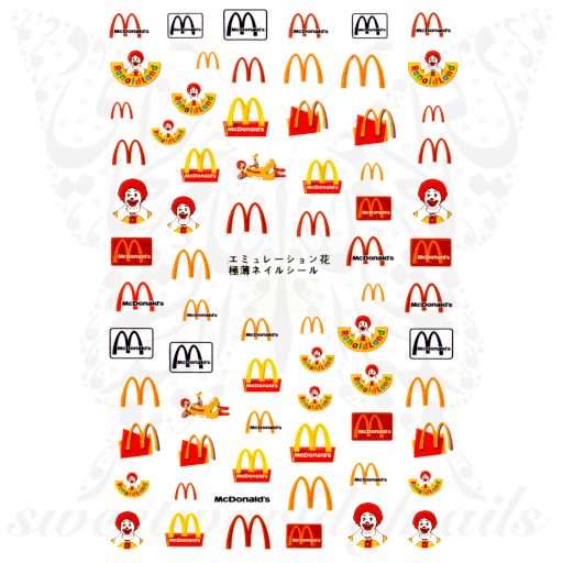 McDonald's Nail Art Fast Food Nail Stickers
