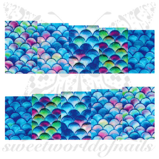 Mermaid Nail Art Fish Scales water decals