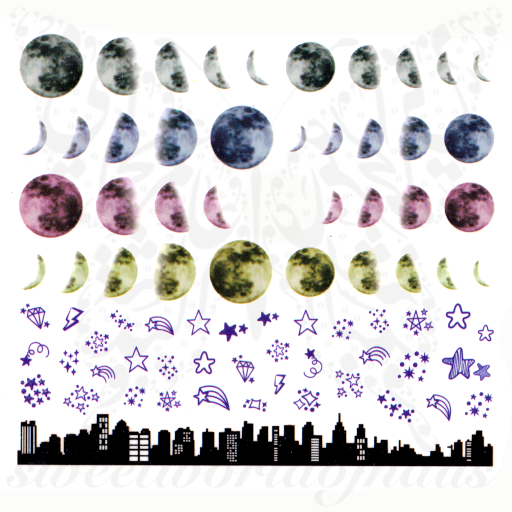 Moon Nails Lunar Phase Nail Water Decals