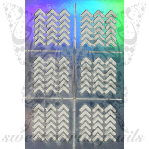 Arrow Nail Vinyls Nail Art Stencil Stickers /2 Sheets