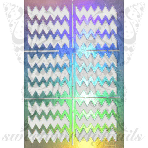 Chevron Zig Zag Nail Vinyls Nail Art Stencil Stickers /2 Sheets