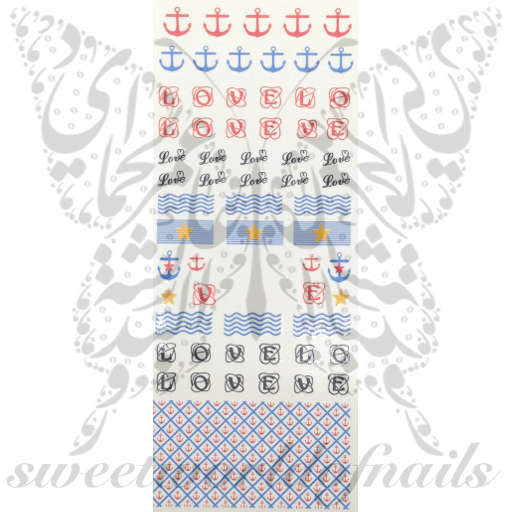 Nautical Nail Art Anchor Sea Waves Beach Nails Water Decals Wraps