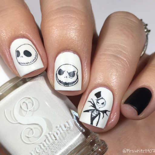 Nightmare Before Christmas Nail Art Water Decals