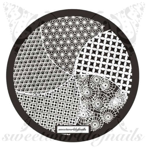 Patterns Nail Art Stamping Plate Hearts Nails