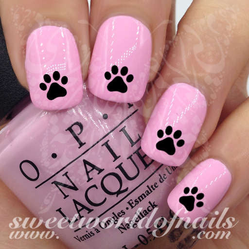Black Paw Nail Art Nail Water Decals Water Slides