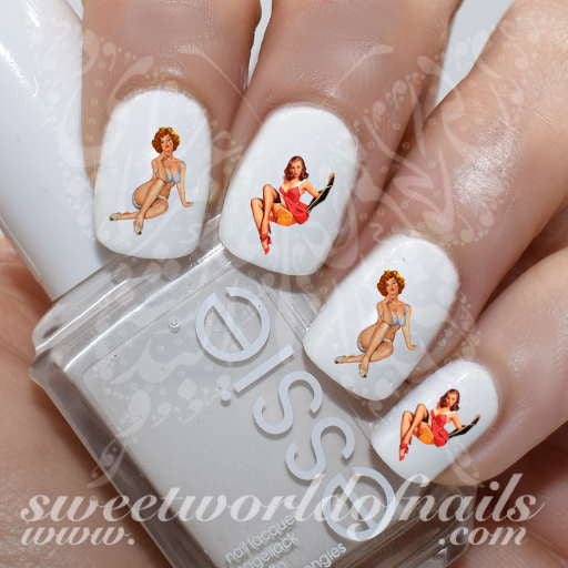 Pin Up Girls Nail Art Nail Water Decals Transfers Wraps