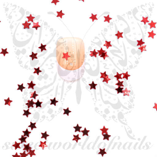 3D Red Stars Nail Decoration