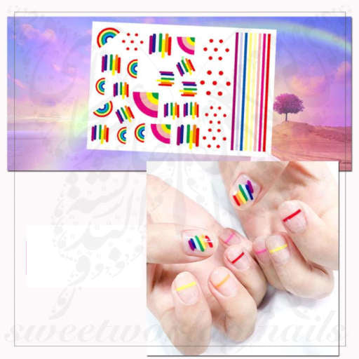 Rainbow Nail Art Nail Stickers