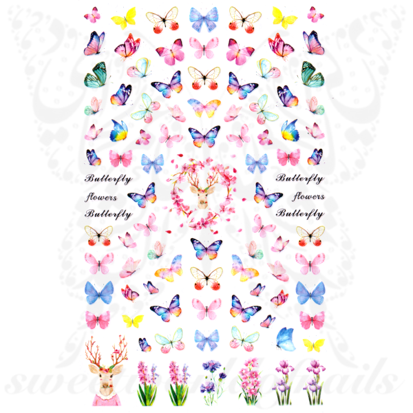 Spring Nail Art Butterflies Nail Stickers