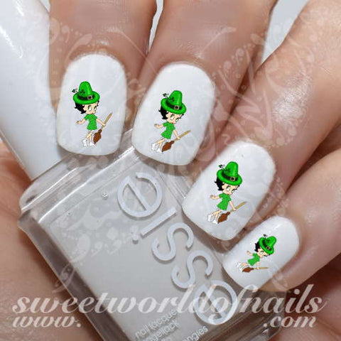 Saint Patrick's Day Nail Art Betty Boop Nail Water Decals Water Slides