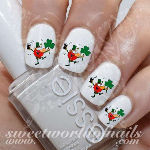 Saint Patrick's day Nail Art Dancing Irish Nail Water Decals Water Slides