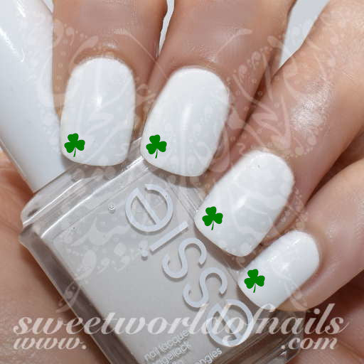 Saint Patrick Nails Mini Shamrock Clover Water Decals
